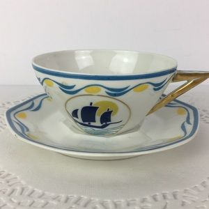 Limoges France China Teacup and Saucer